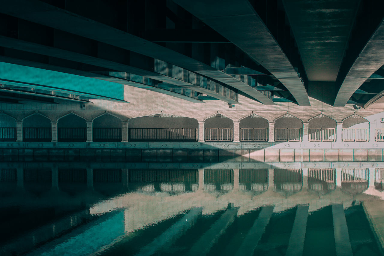 Arch Architectural Column Architecture Below Blue Bridge - Man Made Structure Built Structure Connection Day Indoors  Mirror No People Reflection Reflection_collection Reflections Shootermag Shootermagazine Sky Sunlight Sunny The Great Outdoors - 2017 EyeEm Awards The Street Photographer - 2017 EyeEm Awards Under Underneath Water