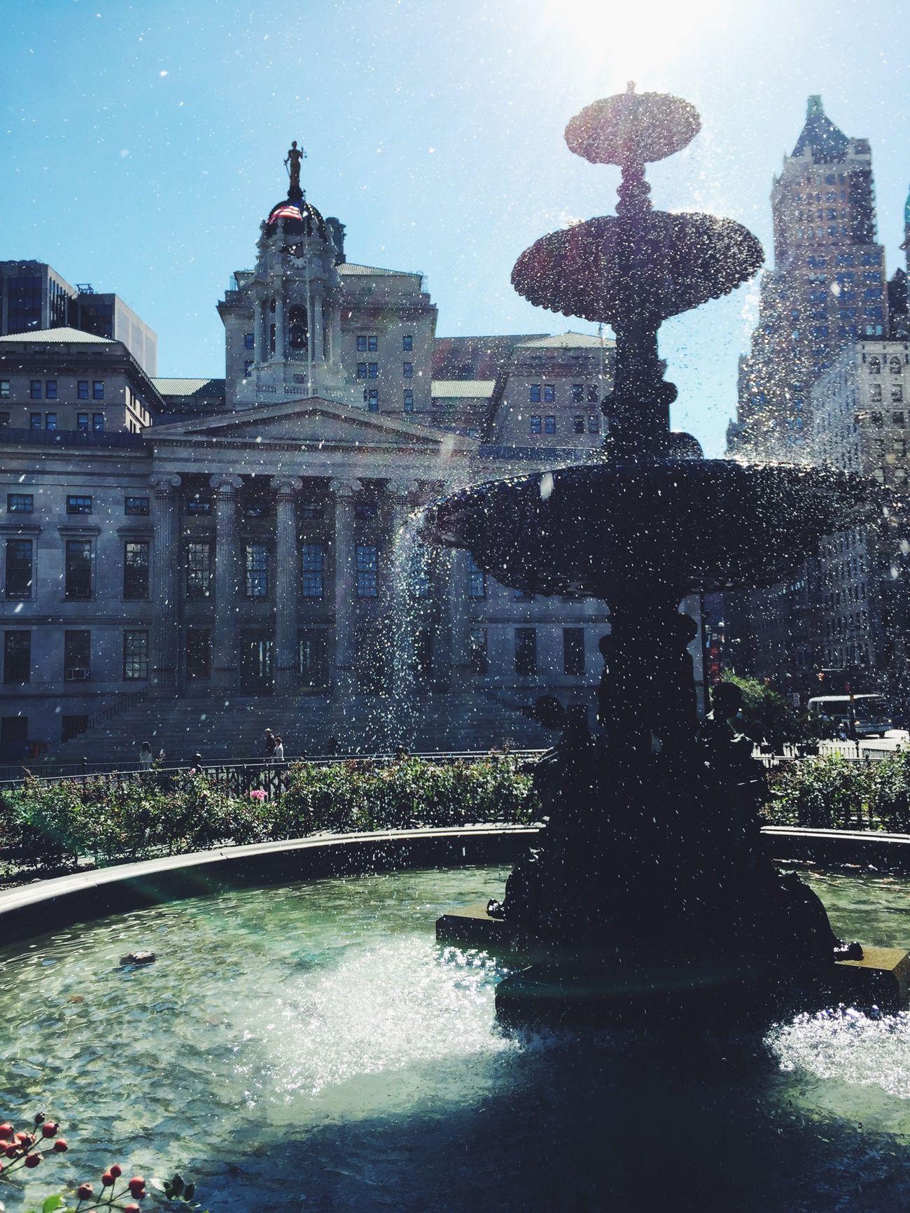 Fountain in Brooklyn while Walking Around Enjoying The Sun