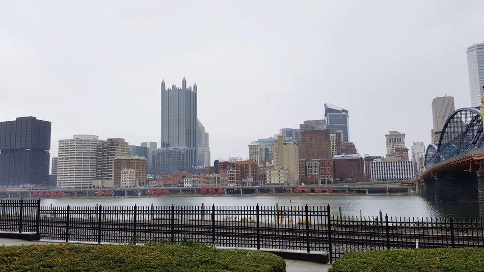 Downtown Pittsburgh Pittsburgh Pennsylvania Happy Thanksgiving Urban Skyline City