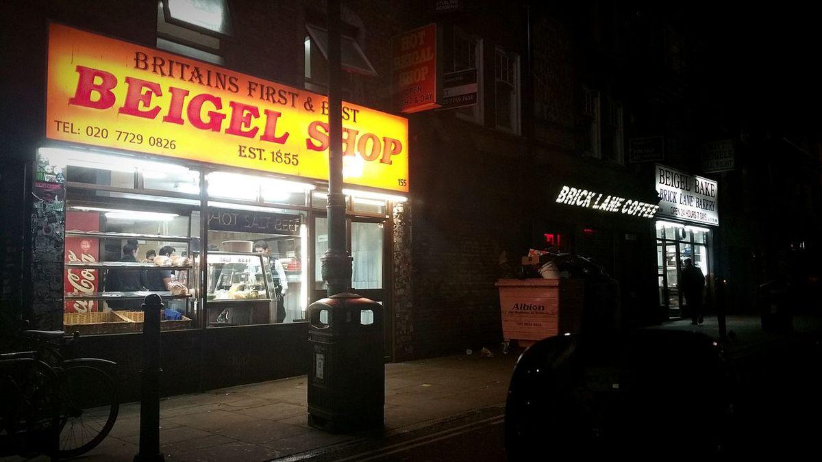 Bagels Beigel Bricklane London London Night