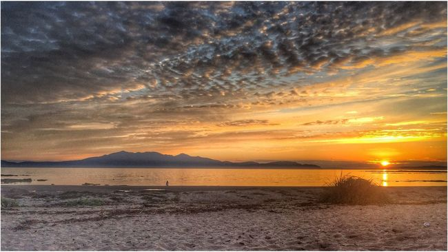 Isle Of Arran  from Ardrossan Sunset Water Tranquil Scene Scenics Beauty In Nature Tranquility Mountain Sun Idyllic Cloud - Sky Orange Color Majestic Atmospheric Mood Romantic Sky Dramatic Sky EyeEm Gallery EyeEm Eye4photography  Eyeemphotography Eyemphotography Calm Check This Out Relaxing