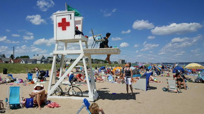 Lifeguard On Duty Lifeguard Station Beach Day Beach Photography Maine Photography ☉ Maine Maine Scenery Opme⛱ Sea And Sand Old Orchard Beach, ME EyeEm Best Shots Maine Photography 🌲