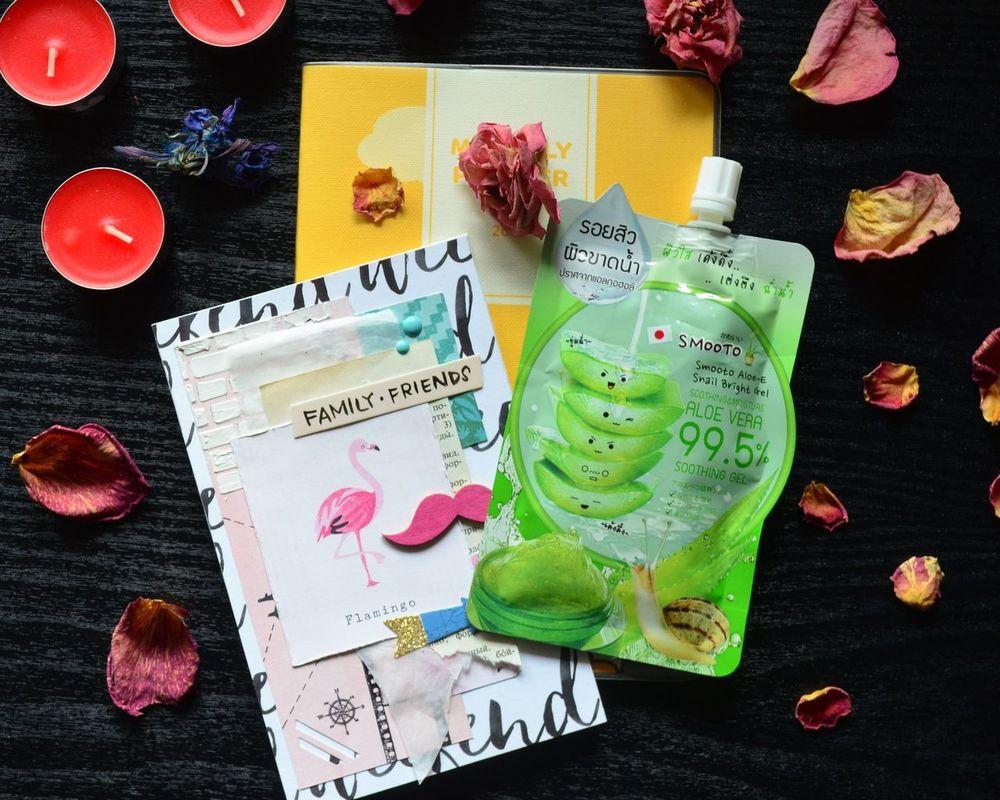 Thai Thailand Cosmetic Smooto Handmade Postcard Aloe Aloe Vera Snail Planner Kakaofriends Friends