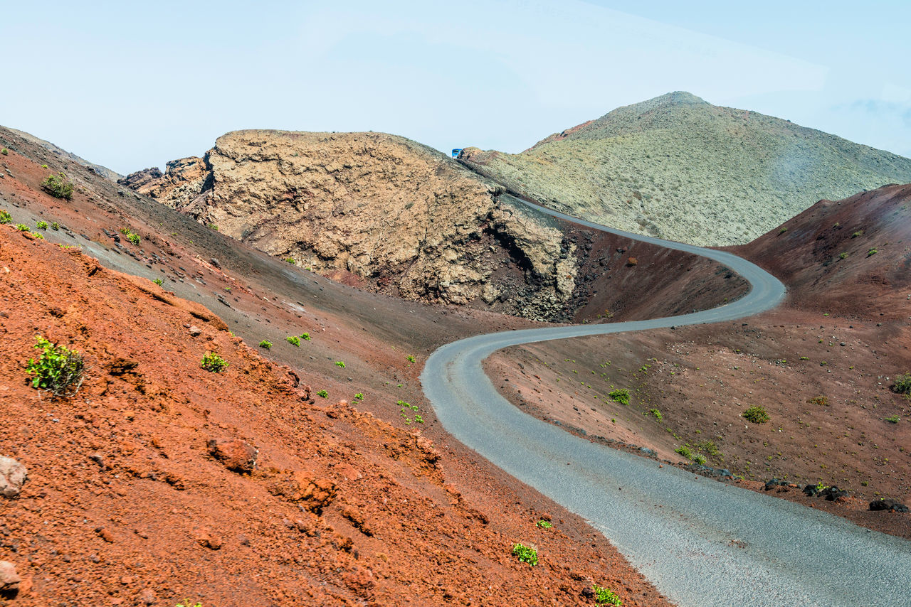 Beautiful stock photos of volcano, Curve, Day, Diminishing Perspective, Empty Road