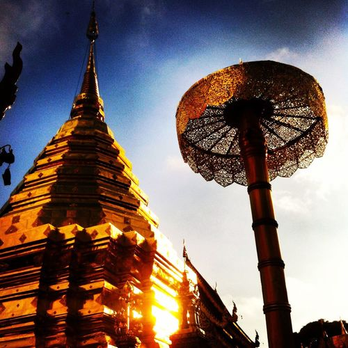 Spotted In Thailand Holy Sunset Golden Pagoda