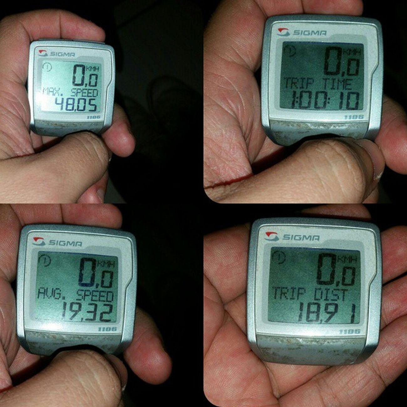 @cicloviasinvisiveis Respeiteumcarroamenos Maisamormenosmotor Hoje foi bem complicado, ainda assim consegui imprimir um bom ritmo. 😉🔋🎧🚲🔝🔥