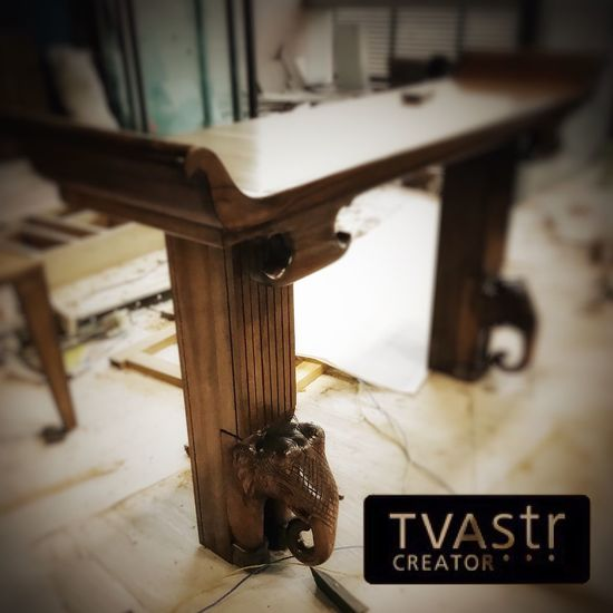 ..• wood carved elephants with tusk used for legs comes out as unique welcoming entrance table •.. . . . . . . #interior #interiordesign #wood #console #table #woodworking #nature #inspire #instagood #photooftheday #photo #photography #love #india #indian #furniture #homedecor #design #art #style #luxury #house #decoration #beautiful #instahome #unique #creation #followme #thankyou #tvastrcreator