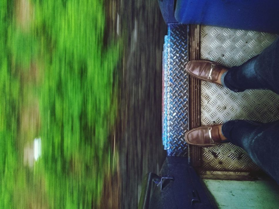 The Journey Is The Destination Traveling Mobilephotography Lifeisajourney Irctc Indianrailway Green Nature Kerala The Gods Own Country ;) Runningshot Honor5x