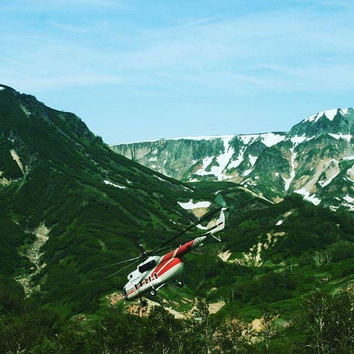 камчатка долинагейзеров Вертолет