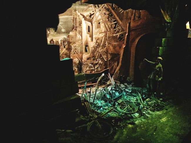 War Ruins Exhibition Life Back Then war-scene beautifully created and lit