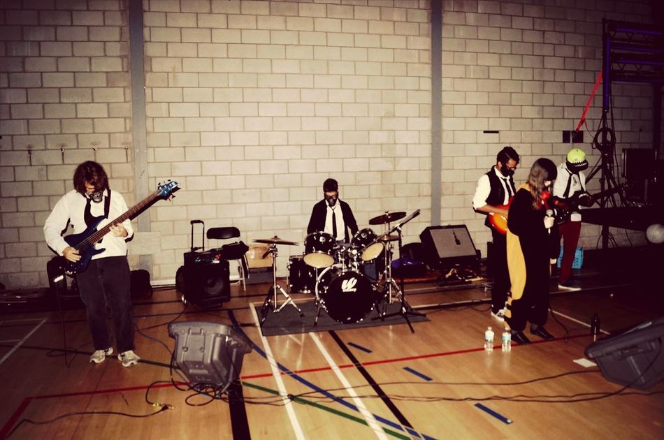 My band and I when we performed yesterday @ otakuthon halloween 2014. Anime Convention Band Ties&ribbons