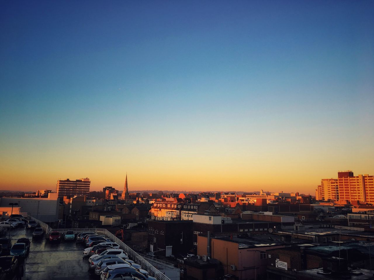 City Building Exterior Clear Sky Copy Space Built Structure Architecture Cityscape Sunset Residential Building No People Outdoors Day