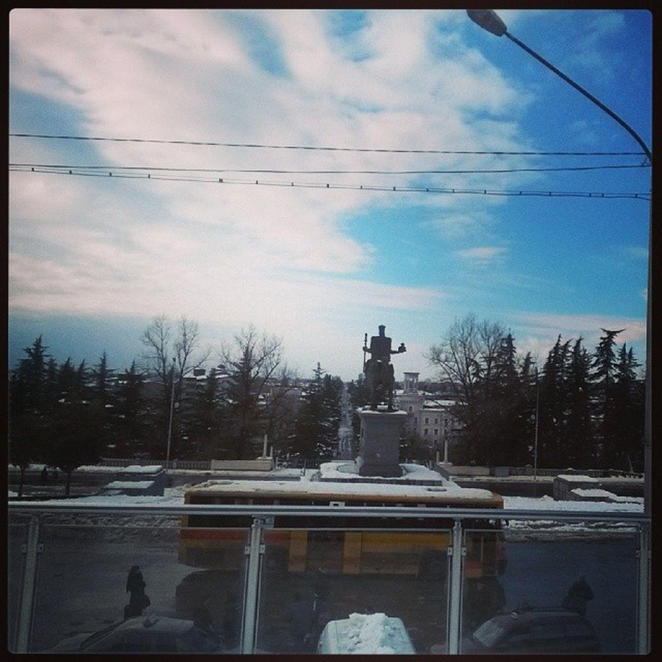 Kutaisi Railway View Snow
