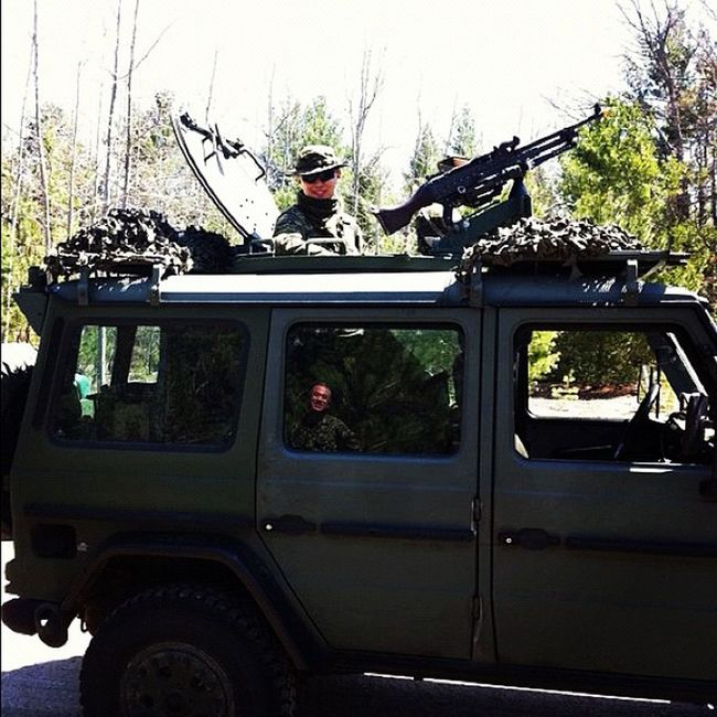 I love my job! Army Military Canadianarmy Gwagon Mercedes Benz Gclass Soldier
