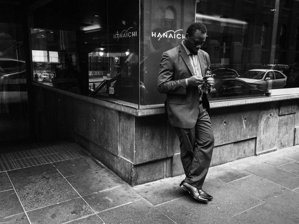 Streetphotography Streetphoto_bw Streets Of Melbourne Everydayaustralia Blackieapp Adobelightroommobile Mobilephotography IPhoneography Shotwithiphone6S Shootermag_australia Shootermag People Watching Monochrome MelbournePhotographer Blackandwhite