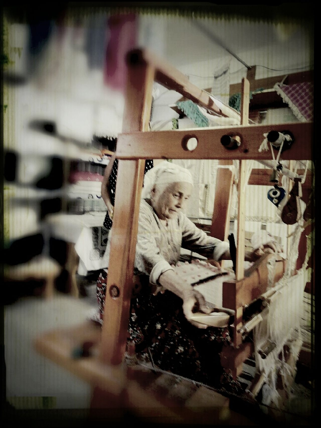 This old lady makes amazing scarfs)) Taking Photos I See Faces Random People People Watching