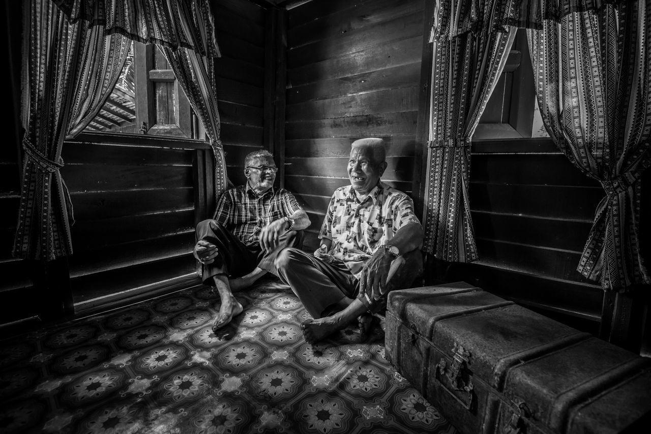 #Black&White #friend #Friendship #oldman #race Real People The Portraitist - 2017 EyeEm Awards Two People