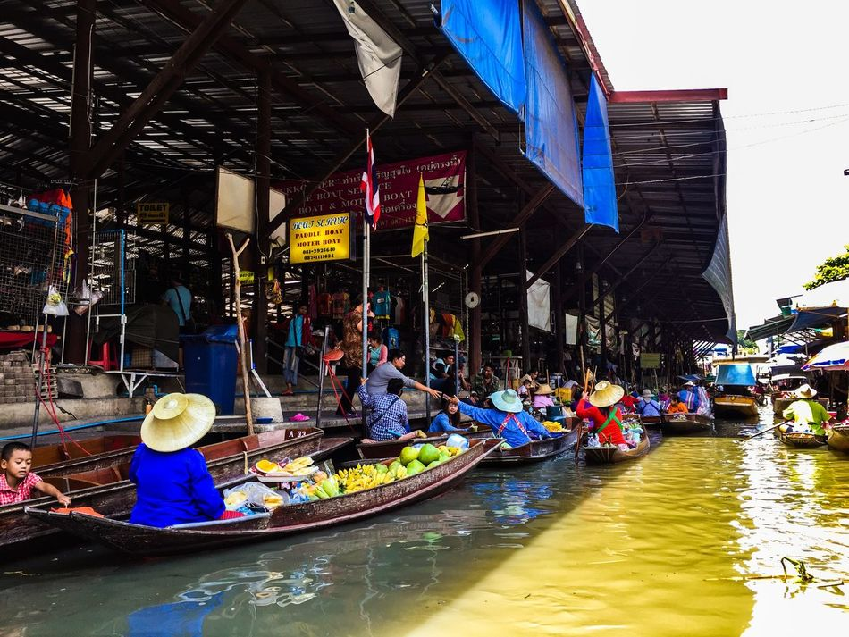 Beautiful stock photos of thai, Canoe, Culture, Day, Floating Market