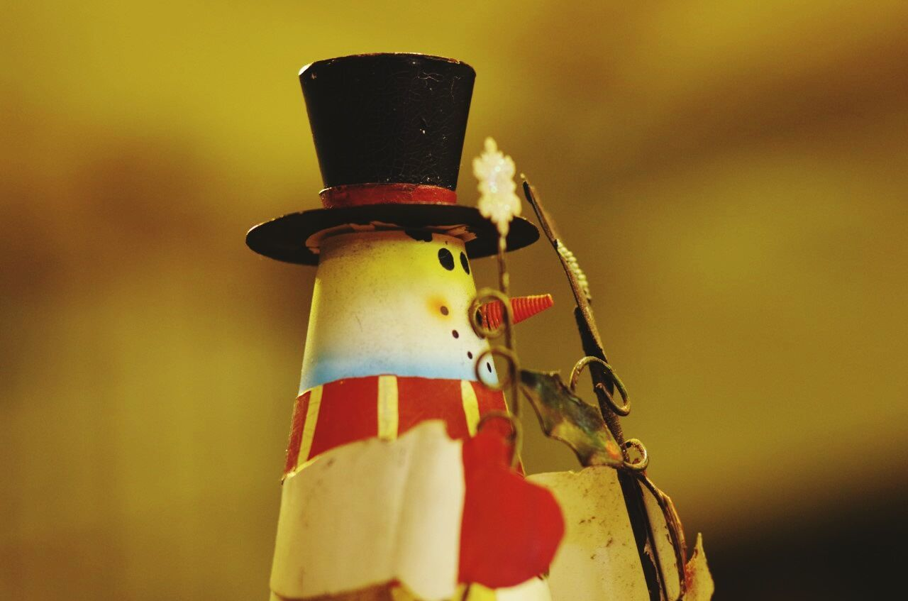 Close-Up Of Snowman Figurine