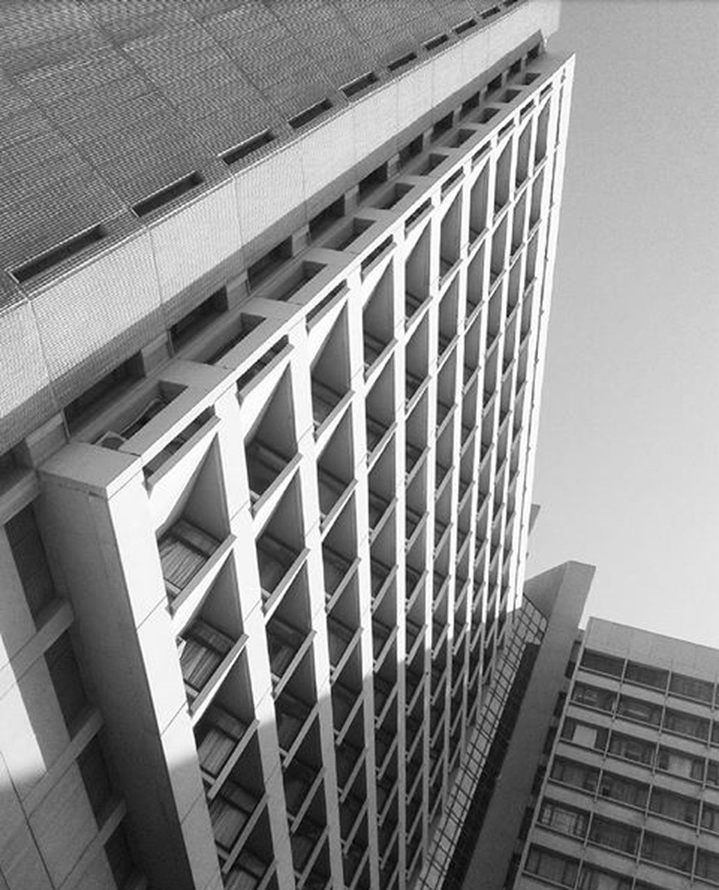 architecture, built structure, building exterior, low angle view, no people, day, modern, outdoors, skyscraper, city, sky