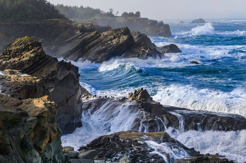 The King Waves Travel Hiking Waves SonyAlpha6000 PNW Oregoncoast Oregon Landscape_Collection Landscape Photography Ocean Sea Water Beauty In Nature Scenics Power In Nature Motion Sky Crash Outdoors Day No People Shades Of Winter