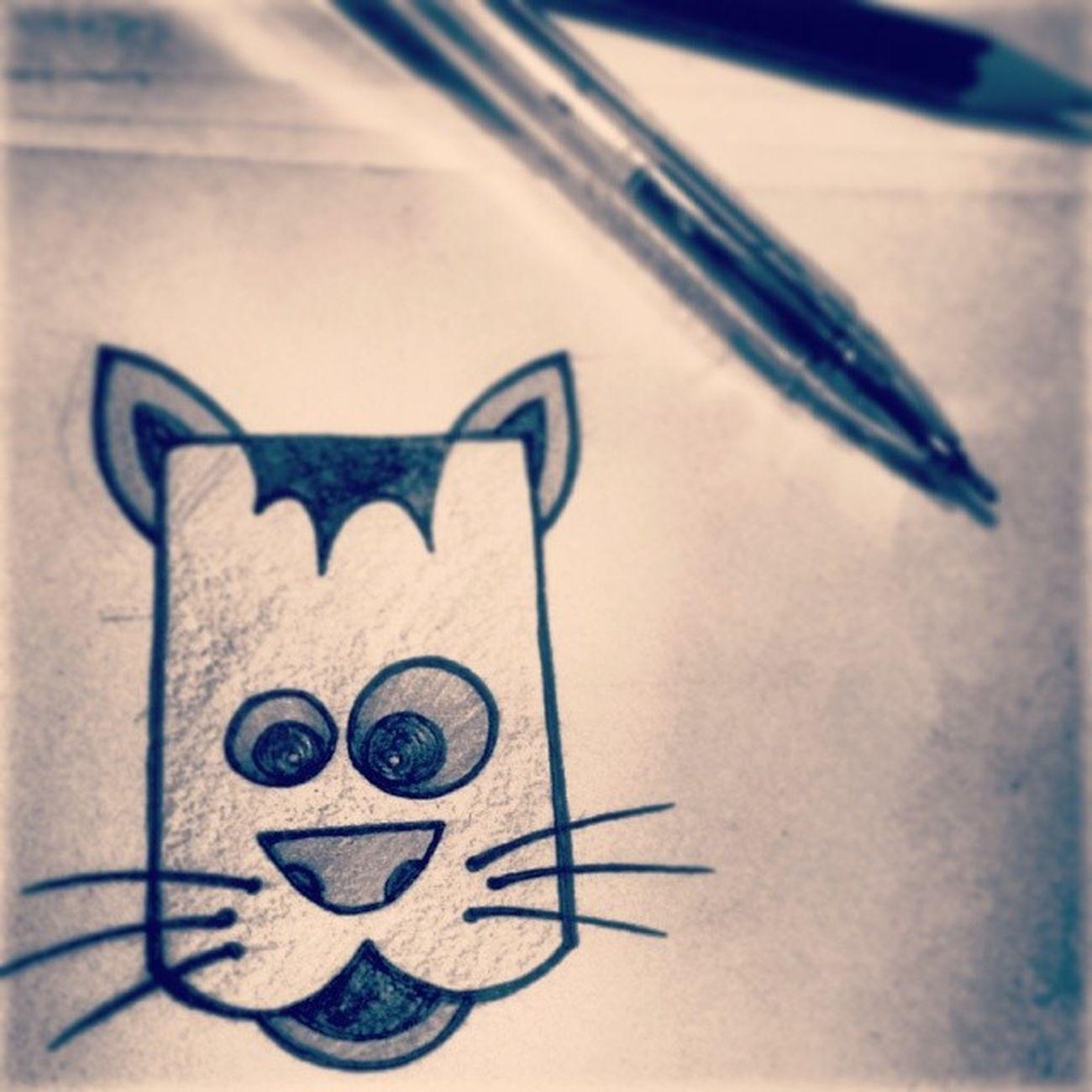 ManeeMeow. Sixthmarch Catscribble Catinsketch Sketch drawing instadraw instasketch meow manee catdoodle cartoon whiskers biladi billi