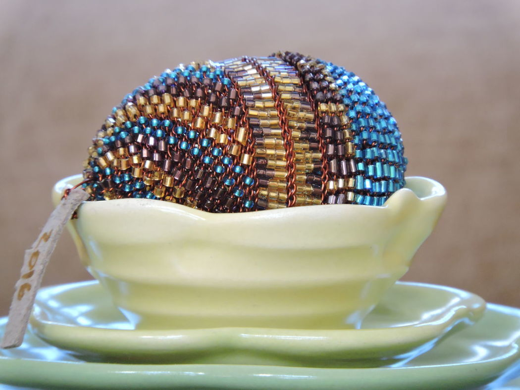 Beaded egg Close-up Day Easter Decoration Easter Eggs On Display Easter!! Indoors  No People Table