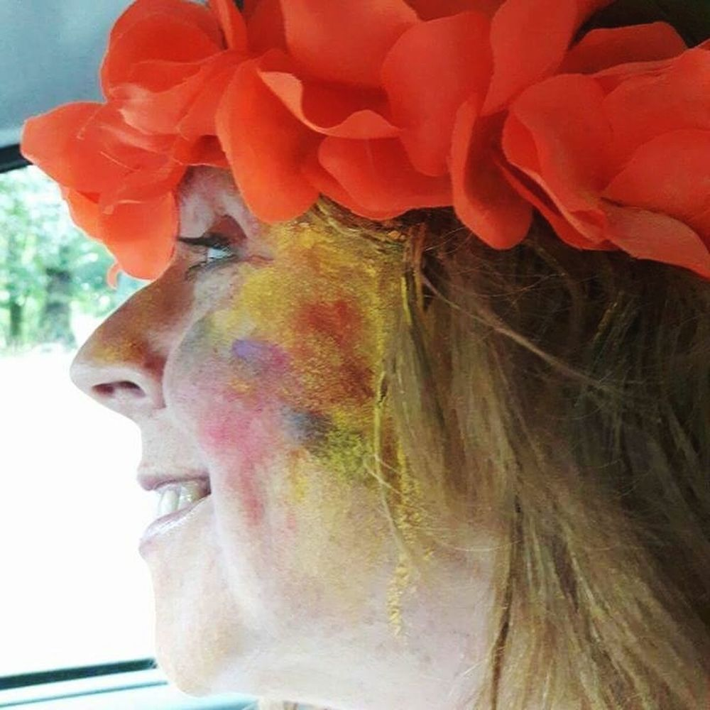 Close-up Adult FunTimes! Enjoying Life Colour Splash Celebration One Person One Woman Only Fun Real People Dry Paint Achievement Human Body Part Only Women Human Face Headshot Adults Only Multi-coloured The Little Things Mean The Most. Profile View Happy Colours Smile❤ Pride