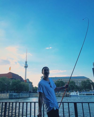 Happiness Portrait Of A Friend Captured Moment My Fuckin Berlin Fishing In The Spree