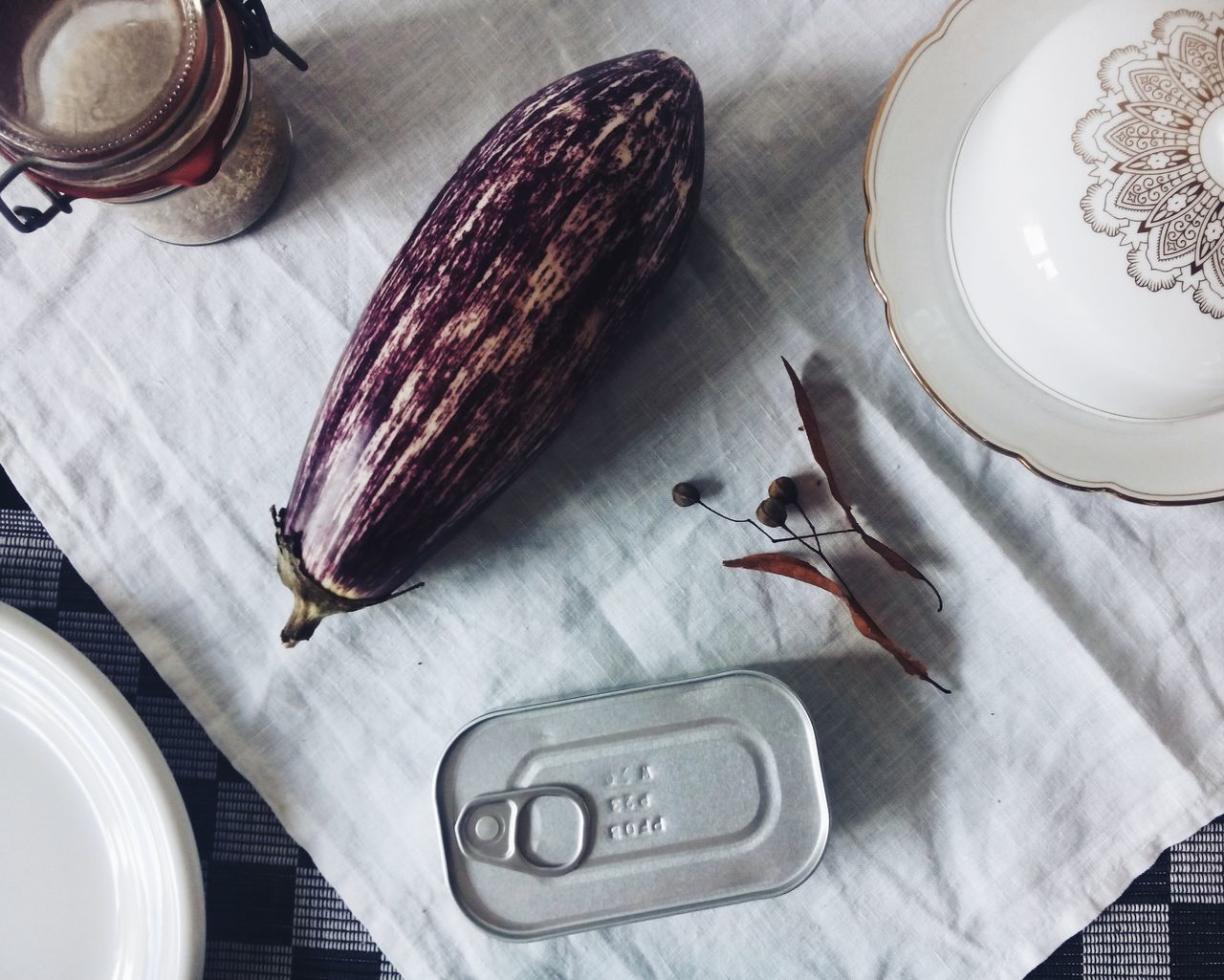 Beautiful stock photos of table, Aubergine, Can, Container, Day