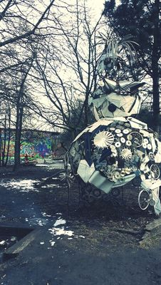 Hanging out at Christiania's Hovedindgang by Xue Jing