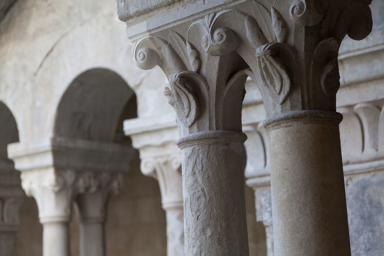 Architectural Detail Of Columns At Historic Building