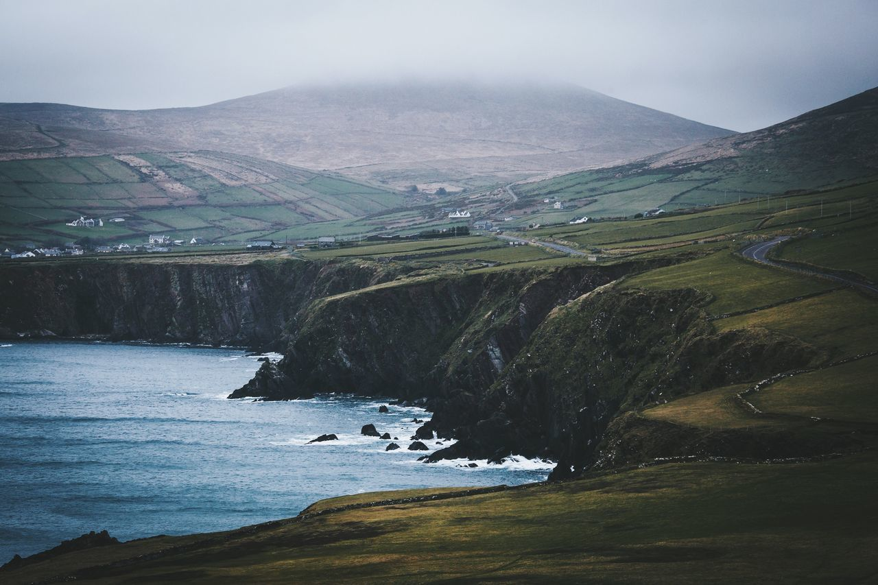 Moody coastline Nature Landscape Tranquil Scene Beauty In Nature Scenics No People Tranquility Day Outdoors Mountain Water Sky Ireland Spring