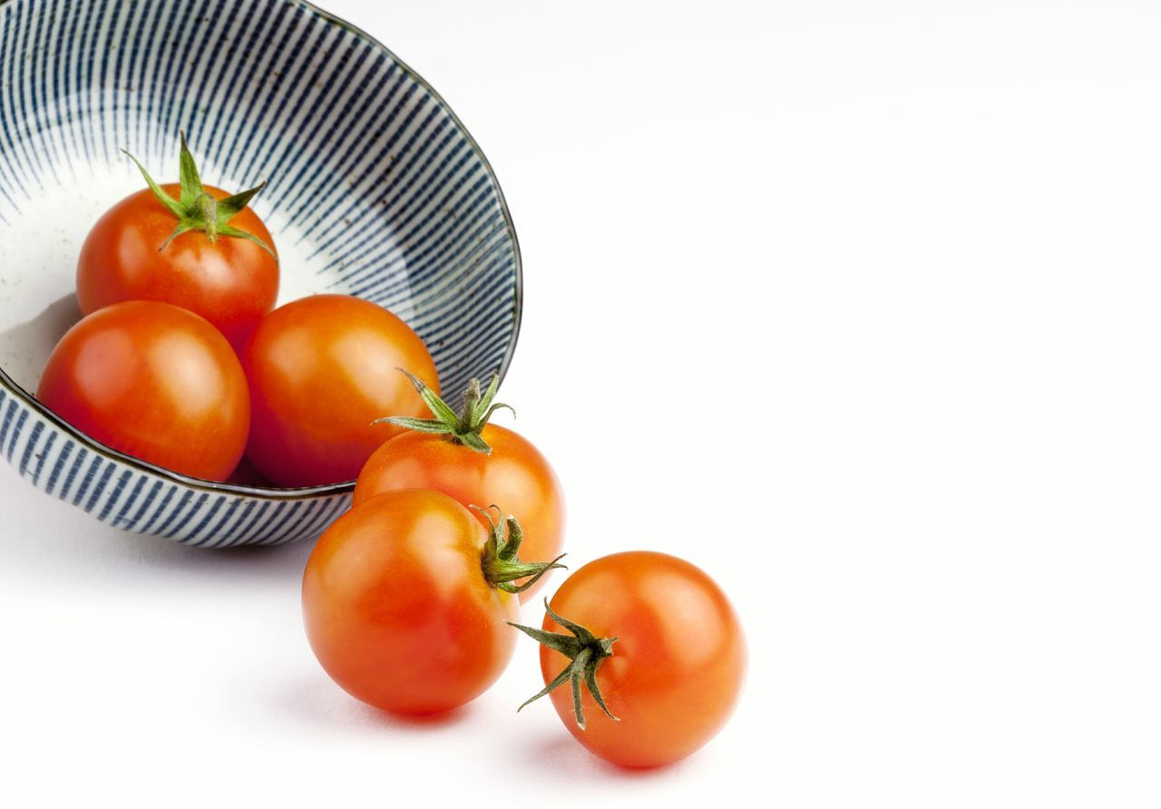 food and drink, freshness, food, tomato, healthy eating, vegetable, still life, no people, fruit, close-up, indoors, white background, day