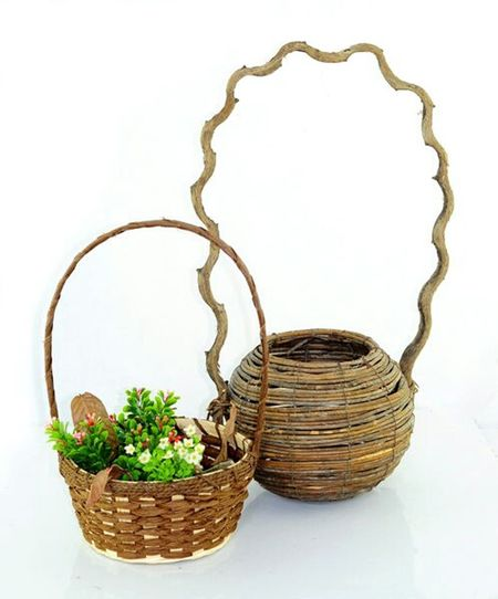 Basket Rattan Bamboo I love my beautiful picture and flower baskets ^_^