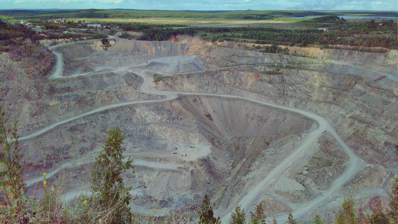 Day Deep High Kushva Landscape Mountain Nature No People Outdoors Quarry Russia Tranquility Ural