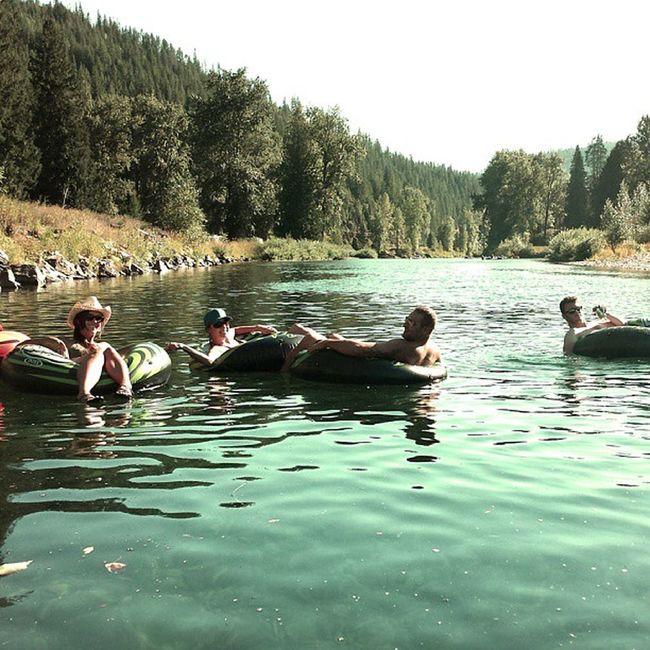 Floating down the Cdariver yesterday enjoying the end of Summer w some great friends