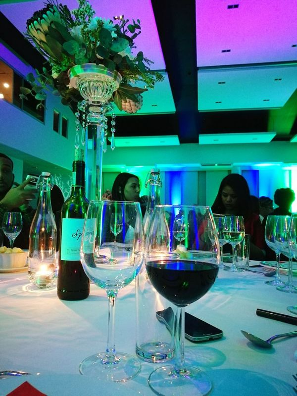 Gala Dinner at a conference venue in Stellenbosch, South Africa Food And Drink Decoration Party - Social Event Drink Dinner Party Fine Wine Dine Goodvibes Events Event Venue Universitylife Man Made Object