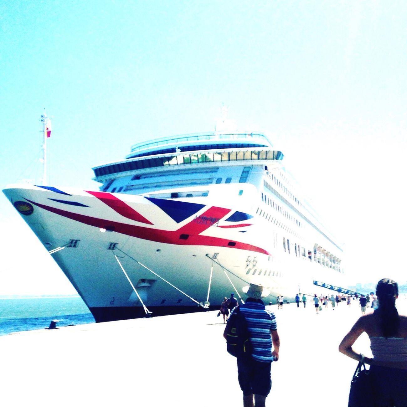 Aurora Lisbona Happy Dayyyy! Cruise Ship Cruising First Eyeem Photo