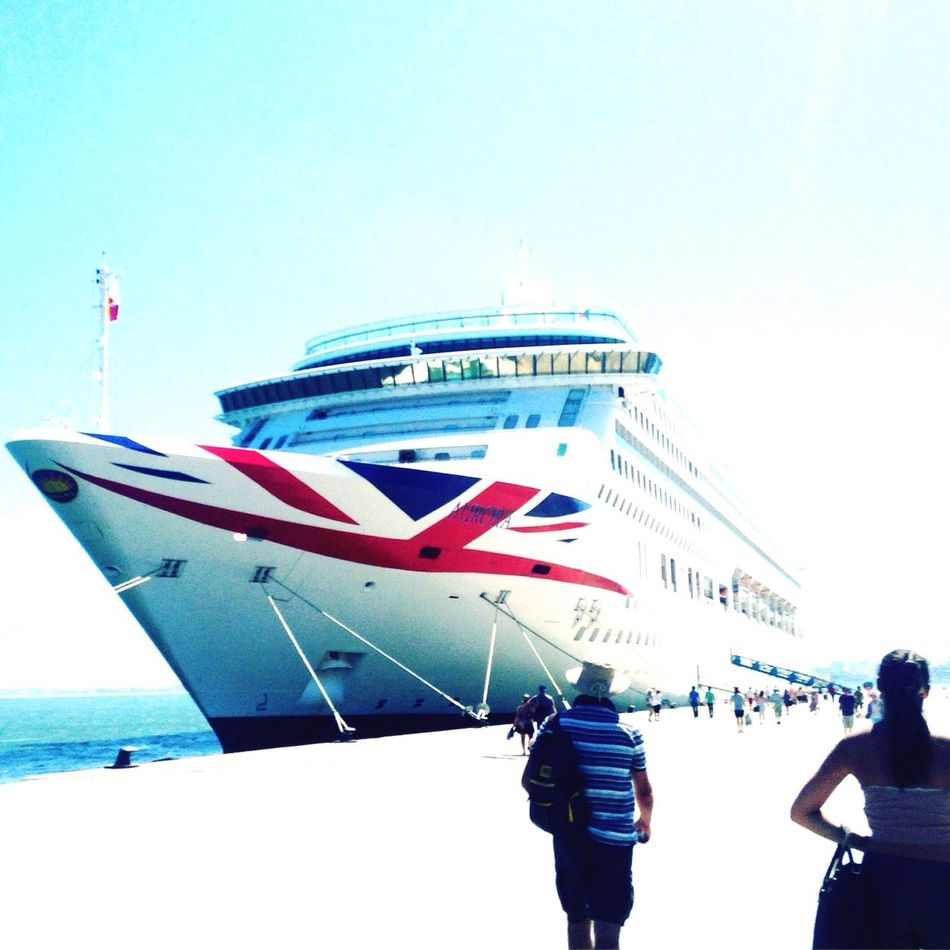 Aurora Lisbona Happy Dayyyy! Cruise Ship Cruising First Eyeem Photo