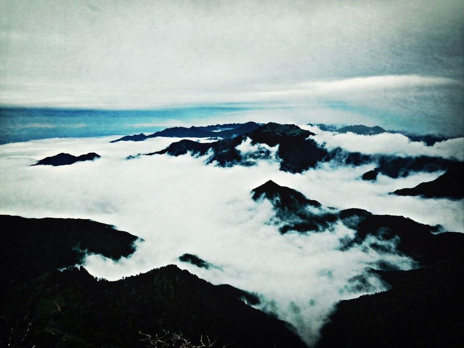 a sea of clouds Mountains Hiking Clouds Nature