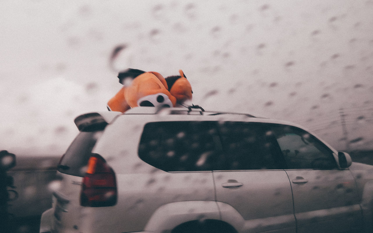 Car Cars Close-up Day Grey Grey Sky Land Vehicle Mode Of Transport No People Outdoors Rain Rainy Transportation Window
