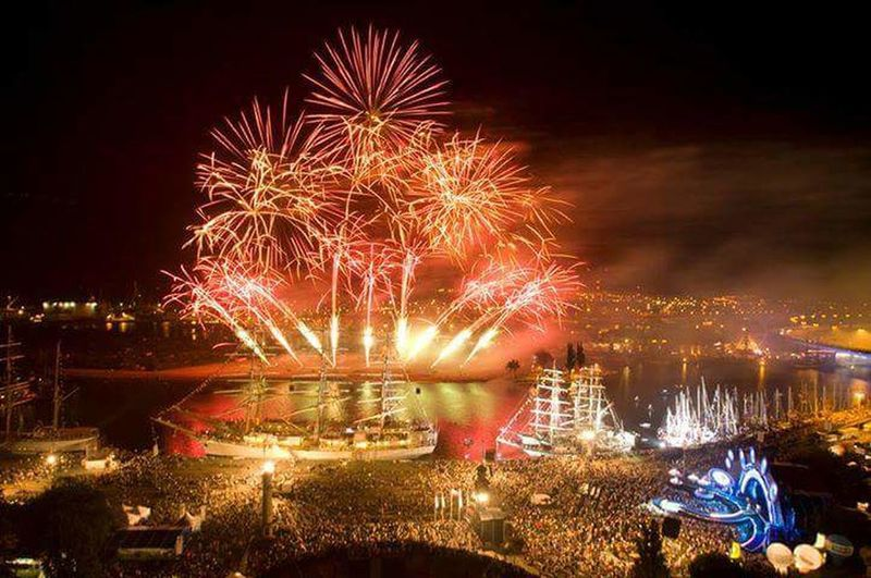 Battle Of The Cities Ships⚓️⛵️🚢 Firework Display Celebration Night Water Firework - Man Made Object Arts Culture And Entertainment Event Firework Sky Multi Colored Outdoors Poland Pyromagic Stettin Szczecin