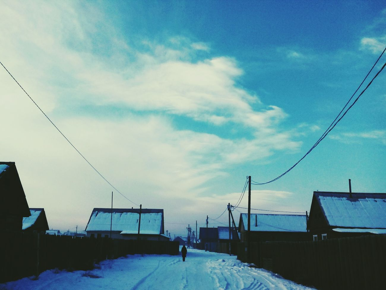 Snow Winter Cold Temperature Cloud - Sky Sky Outdoors Nature Day Street