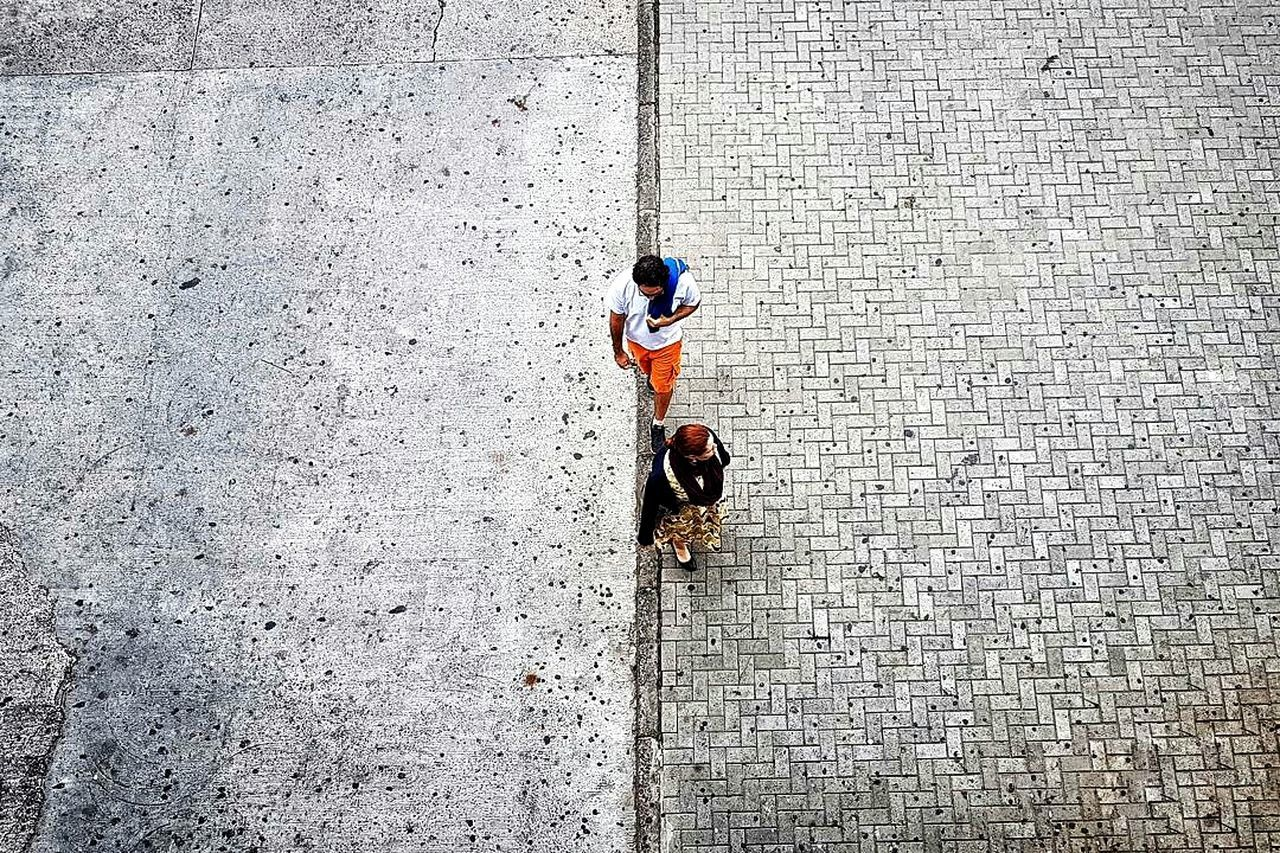 The Street Photographer - 2017 EyeEm Awards High Angle View Day Real People Outdoors Full Length Adults Only Adult People Pattern Pieces Pattern Patterns & Textures The Street Photographer - 2017 EyeEm Awards