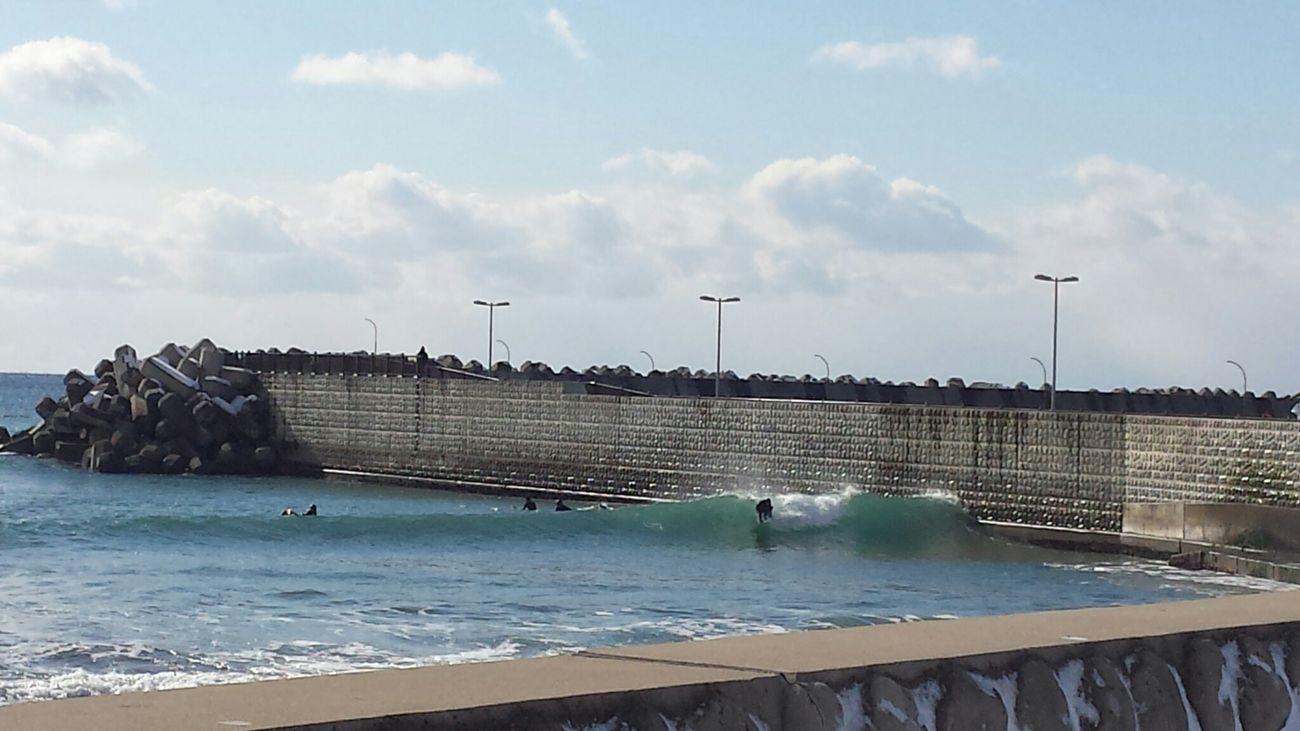 Relaxing Seaport Wall Surfing Winter Enjoying Life Sunnydays Wave