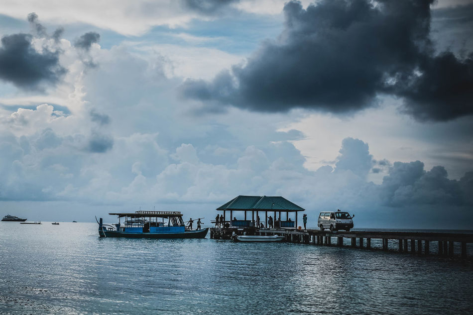 Showcase April Maldives Sky Sea And Sky Sea X100t Travel Local Transportation EyeEm Best Shots Fujifilm Clouds And Sky Cloud Traveling Travel Destinations