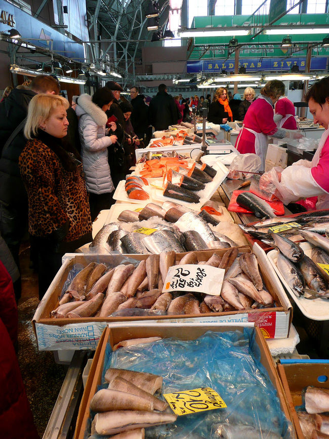 Latvia Latvia Riga Cityscapes Riga Panorama Rigaplaces Tirgus Centraltirgus Fish Market Fish Stall Fish Stand Shopping For Fish Local Catch