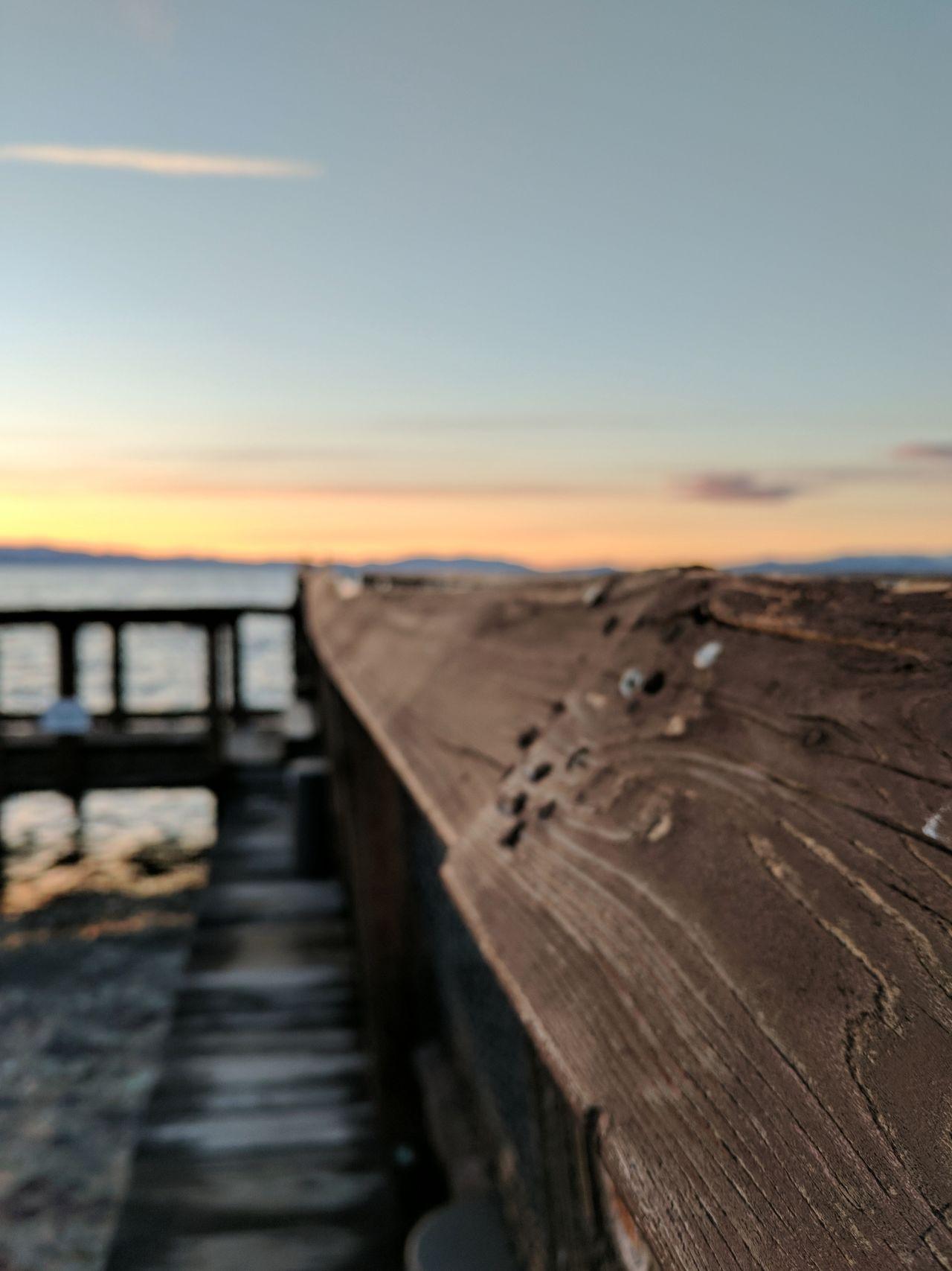 Close-up Outdoors Sunset Boardwalk Summer Water Travel Destinations Scenics Horizon Over Water Lake Tahoe California United States