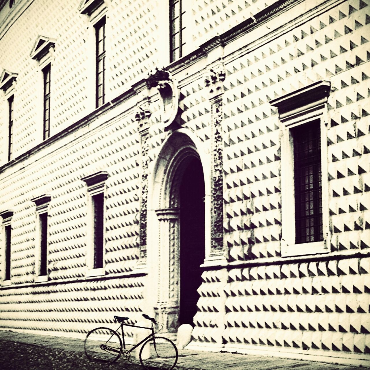Bicycle Parked By Building